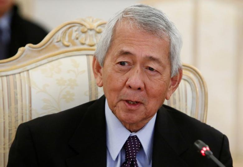 Philippine Foreign Minister Perfecto Yasay speaks during a meeting in Moscow, Russia, December 5, 2016. REUTERS/Sergei Karpukhin/File Photo