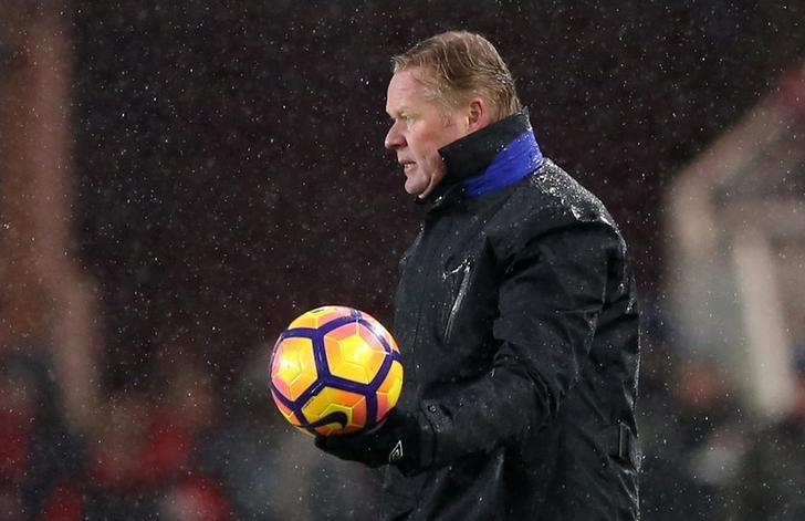 Britain Soccer Football - Middlesbrough v Everton - Premier League - The Riverside Stadium - 11/2/17 Everton manager Ronald Koeman Reuters / Scott Heppell Livepic