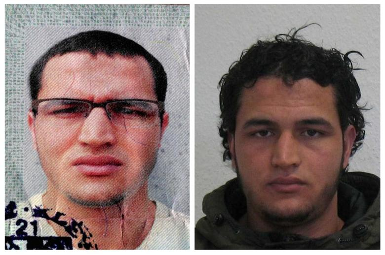 Handout pictures released on December 21, 2016 and acquired from the web site of the German Bundeskriminalamt (BKA) Federal Crime Office show suspect Anis Amri searched in relation with the Monday's truck attack on a Christmas market in Berlin.   REUTERS/BKA/Handout via Reuters  ATTENTION EDITORS - THIS IMAGE WAS PROVIDED BY A THIRD PARTY. EDITORIAL USE ONLY.FOR EDITORIAL USE ONLY. NO RESALES. NO ARCHIVES