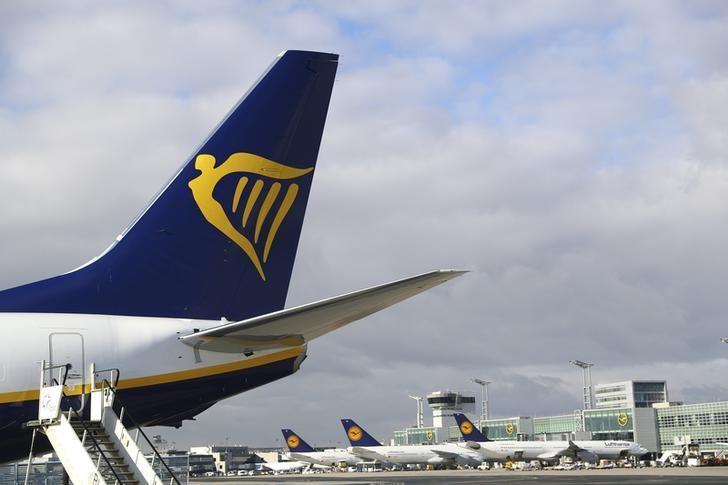 A Ryanair aircraft parks at tarmac of Fraport airport in Frankfurt, Germany, November 2, 2016. REUTERS/Kai Pfaffenbach