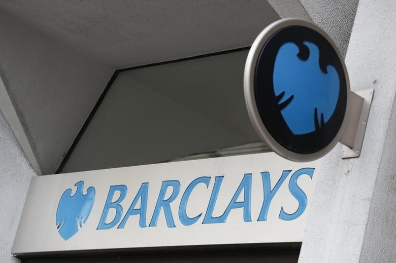 A Barclays sign is seen outside a branch of the bank in London, Britain, February 23, 2017.   REUTERS/Stefan Wermuth