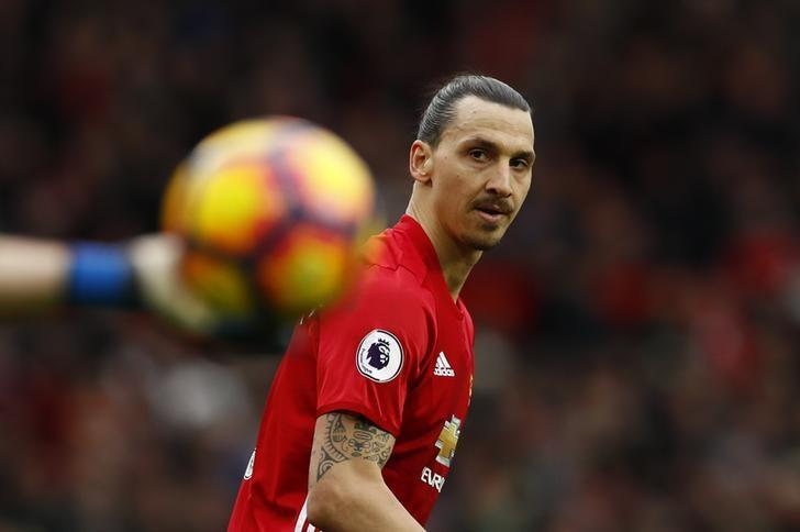 Britain Soccer Football - Manchester United v AFC Bournemouth - Premier League - Old Trafford - 4/3/17 Manchester United's Zlatan Ibrahimovic  Action Images via Reuters / Jason Cairnduff Livepic