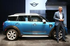 Peter Schwarzenbauer, memeber of the Board of Management of BMW AG, introduces the 2017 Mini Countryman, all-wheel drive version, at the 2016 Los Angeles Auto Show in Los Angeles, California, U.S November 16, 2016.  REUTERS/Lucy Nicholson