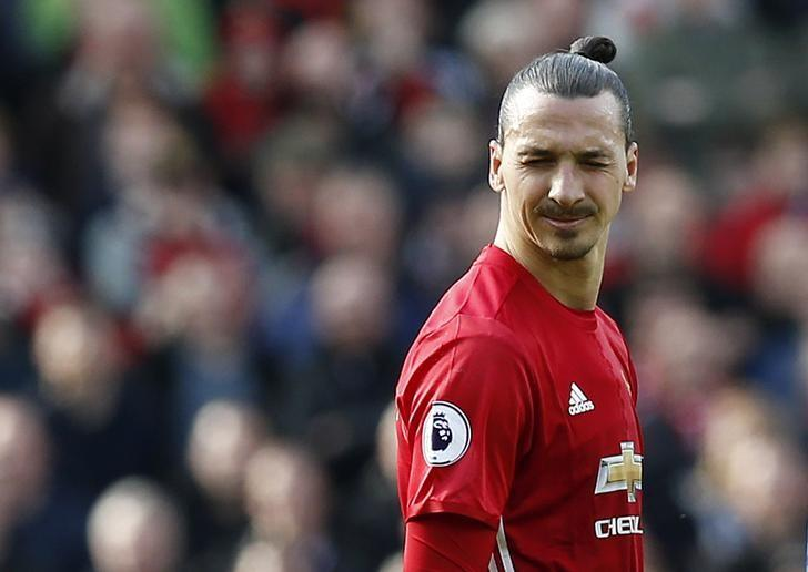 Britain Soccer Football - Manchester United v AFC Bournemouth - Premier League - Old Trafford - 4/3/17 Manchester United's Zlatan Ibrahimovic reacts Reuters / Andrew Yates Livepic