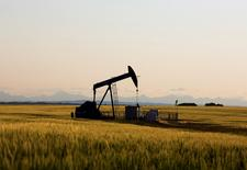 FILE PHOTO - An oil pump jack pumps oil in a field near Calgary, Alberta, Canada on July 21, 2014.  REUTERS/Todd Korol/File Photo