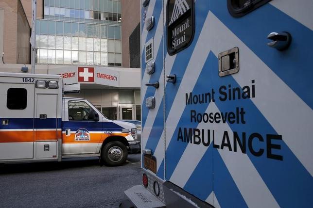 3月8日、米国の医師会や病院団体などは、共和党が公表した医療保険制度改革(オバマケア)改廃のための法案に強い反対を表明した。NY市内の病院で2016年2月撮影(2017年 ロイターー/Brendan McDermid)