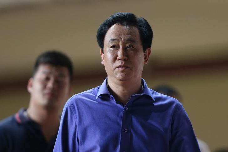 Xu Jiayin of Evergrande is seen in Guangzhou, Guangdong province, China, September 21, 2016. REUTERS/Stringer