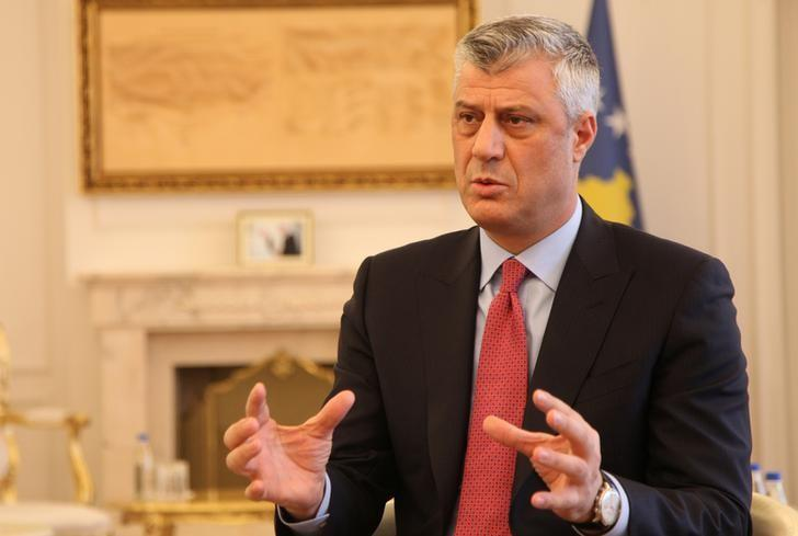 Kosovo's President Hashim Thaci gives an interview for REUTERS in his office in Kosovo's capital Pristina, January 16, 2017. REUTERS/Hazir Reka