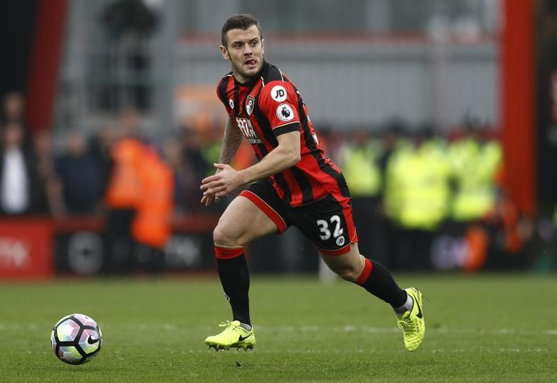 Britain Football Soccer - AFC Bournemouth v West Ham United - Premier League - Vitality Stadium - 11/3/17 Bournemouth's Jack Wilshere in action Reuters / Peter Nicholls