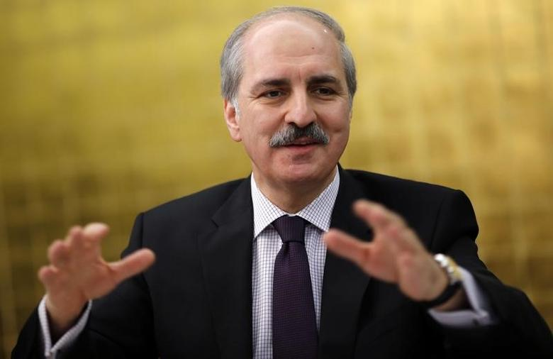 Numan Kurtulmus talks to foreign media in Ankara January 21, 2014.   REUTERS/Umit Bektas