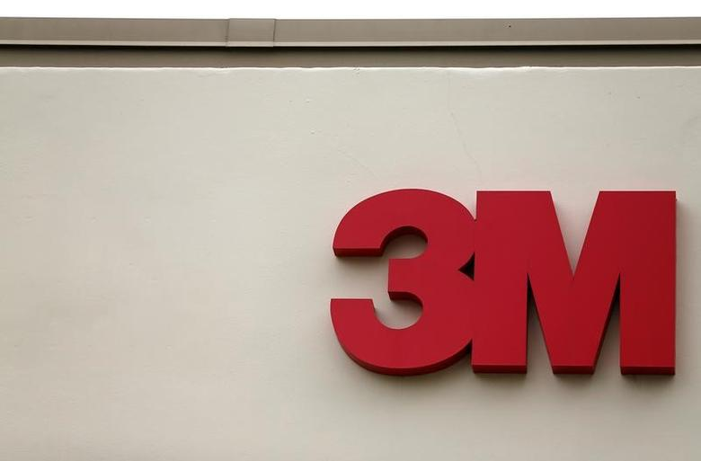 The logo of Down Jones Industrial Average stock market index listed company 3M is shown in Irvine, California April 13, 2016.  REUTERS/Mike Blake/File Photo