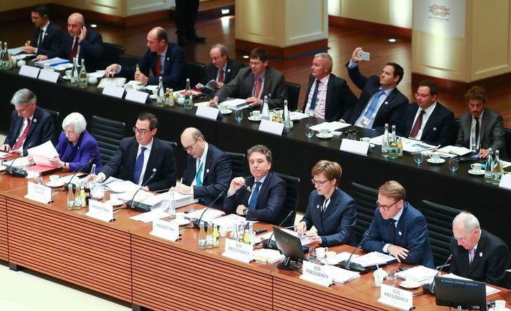 3月17日,20国集团(G20)财长和央行行长在德国巴登巴登开会。REUTERS/Kai Pfaffenbach