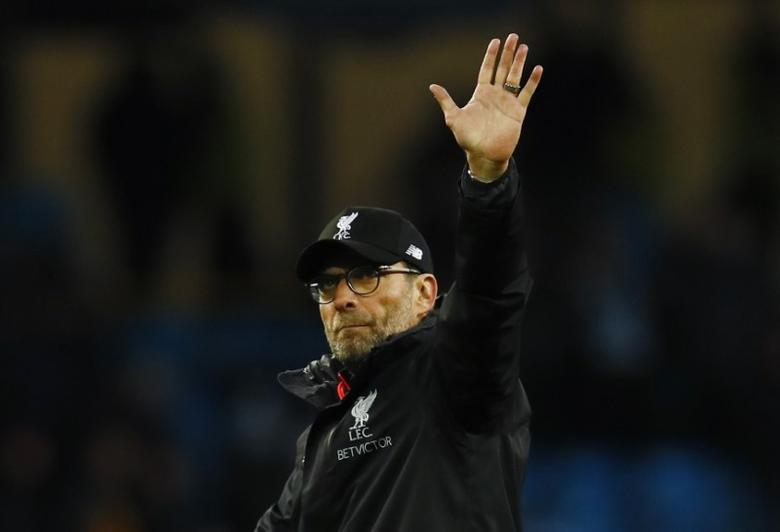 Britain Soccer Football - Manchester City v Liverpool - Premier League - Etihad Stadium - 19/3/17 Liverpool manager Juergen Klopp gestures to fans after the game Action Images via Reuters / Jason Cairnduff Livepic