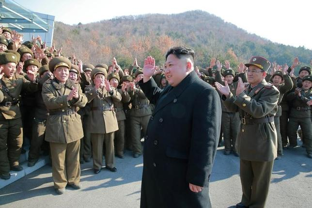 North Korean leader Kim Jong Un supervised a ballistic rocket launching drill of Hwasong artillery units of the Strategic Force of the KPA on the spot in this undated photo released by North Korea's Korean Central News Agency (KCNA) in Pyongyang March 7, 2017. KCNA/via REUTERS/Files