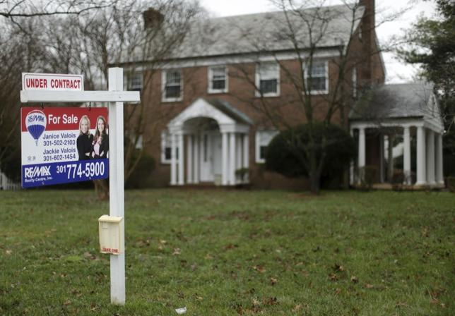 A home for sale that is currently under contract is seen in Silver Spring, Maryland, December 30, 2015. REUTERS/Gary Cameron