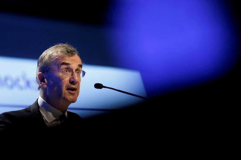 FILE PHOTO:  French Central bank Governor Francois Villeroy de Galhau attends the 2016 Institute of International Finance (IIF) Spring Membership meeting in Madrid, Spain, May 25, 2016.   REUTERS/Susana Vera/File Photo