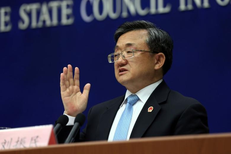 China's Vice Foreign Minister Liu Zhenmin speaks during a news conference in Beijing, July 13, 2016. Image: China Daily/via REUTERS