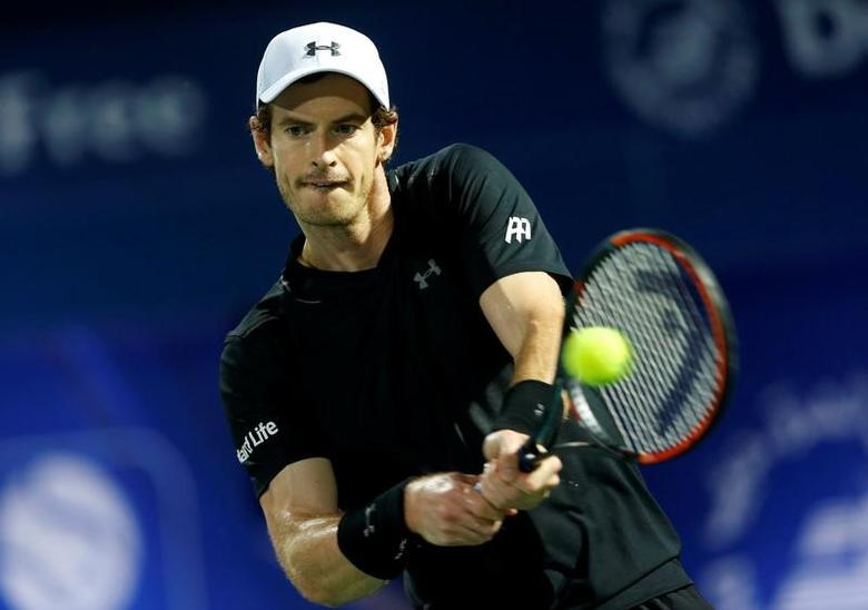 Tennis - Dubai Open - Men's Singles - Andy Murray of Great Britain v Lucas Pouille of France - Dubai, UAE - 03/03/2017 - Andy Murray in action. REUTERS/Ahmed Jadallah/Files