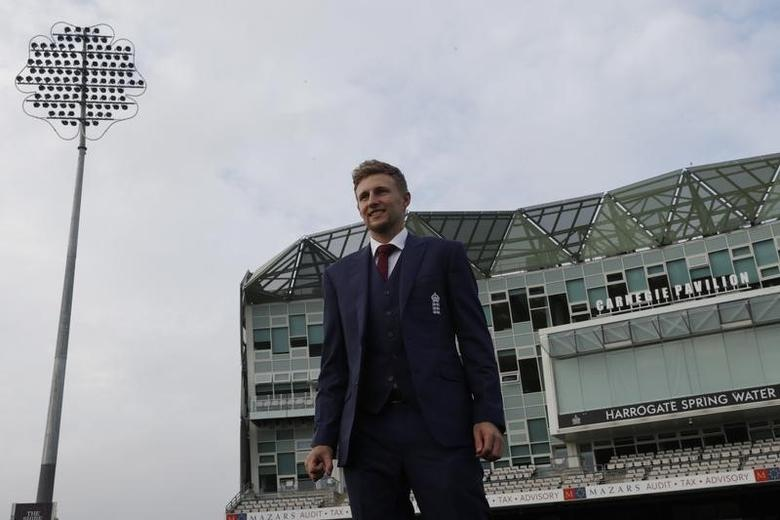 Britain Cricket - England - Joe Root Press Conference - Headingley - 15/2/17 England's Joe Root poses ahead of the press conference Action Images via Reuters / Lee Smith Livepic/File Photo
