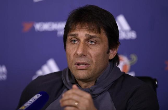 Britain Football Soccer - Chelsea - Antonio Conte Press Conference - Chelsea Training Ground - 31/3/17 Chelsea manager Antonio Conte during the press conference Action Images via Reuters / Tony O'Brien Livepic