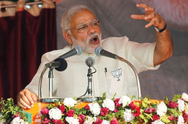 India's Prime Minister Narendra Modi  in Allahabad, India, February 20, 2017. REUTERS/Jitendra Prakash