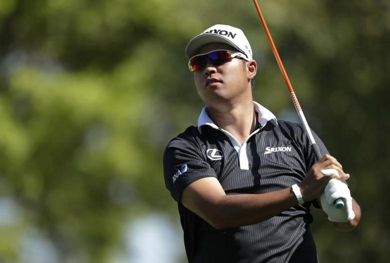 Mar 23, 2017; Austin, TX, USA; Hideki Matsuyama of Japan plays Ross Fisher of England (not pictured) during the second round of the World Golf Classic - Dell Match Play golf tournament  at Austin Country Club. Mandatory Credit: Erich Schlegel-USA TODAY Sports