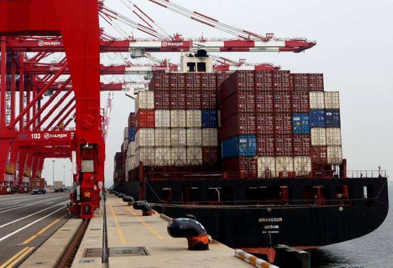 2016年9月7日,韩国仁川新港的集装箱码头。REUTERS/Kim Hong-Ji