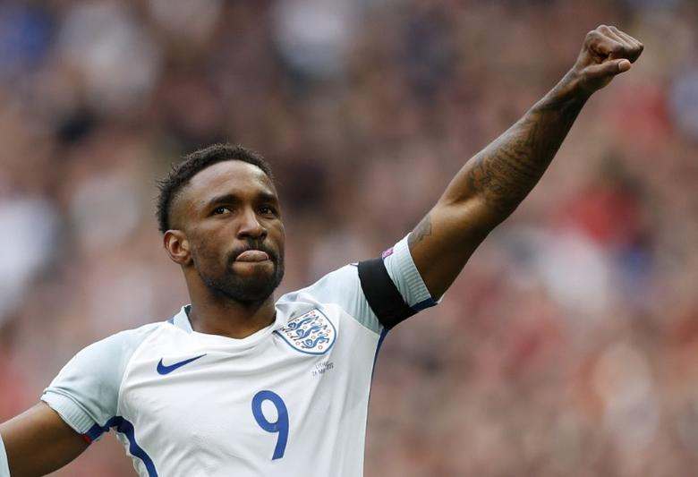 Britain Football Soccer - England v Lithuania - 2018 World Cup Qualifying European Zone - Group F - Wembley Stadium, London, England - 26/3/17 England's Jermain Defoe celebrates scoring their first goal Action Images via Reuters / John Sibley Livepic/Files