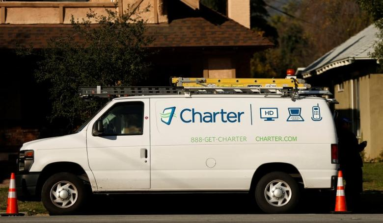 A Charter Communications company service van is pictured in Pasadena, California U.S., January 26, 2017.   REUTERS/Mario Anzuoni