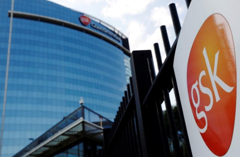 FILE PHOTO - The GlaxoSmithKline building is pictured in Hounslow, west London June 18, 2013.   REUTERS/Luke MacGregor/File Photo
