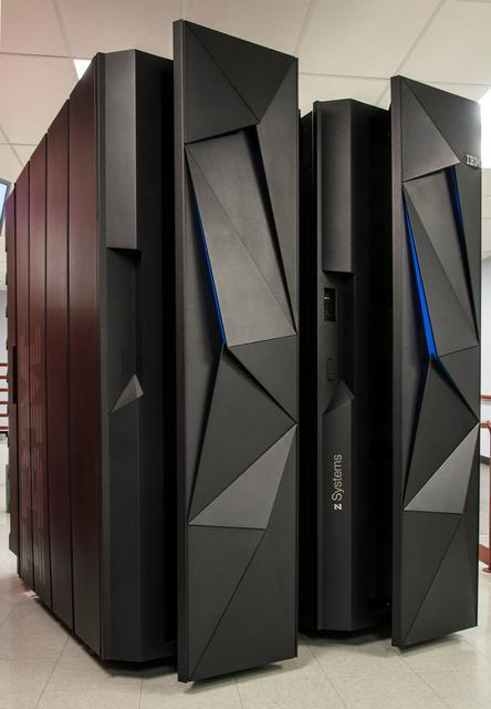 The first shipment of an IBM System Z mainframe computer arrives in Poughkeepsie, New York, U.S. March 6, 2015. Picture taken March 6, 2015.  Jon Simon/IBM/Handout via REUTERS