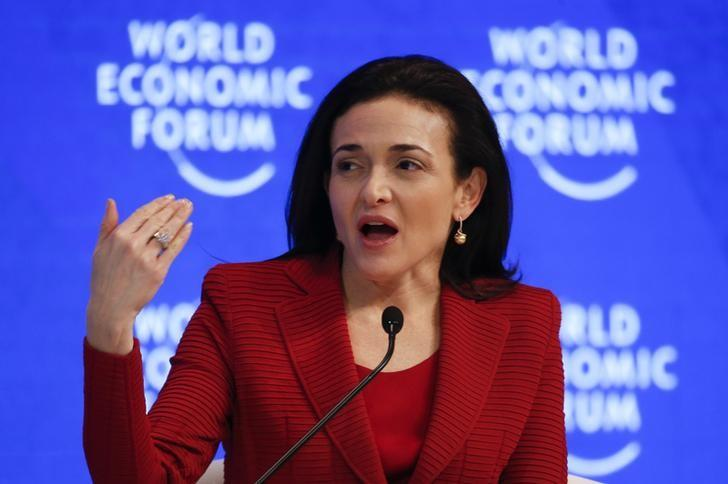 Sheryl Sandberg, Chief Operating Officer and Member of the Board, attends the annual meeting of the World Economic Forum (WEF) in Davos, Switzerland, January 18, 2017. REUTERS/Ruben Sprich/Files