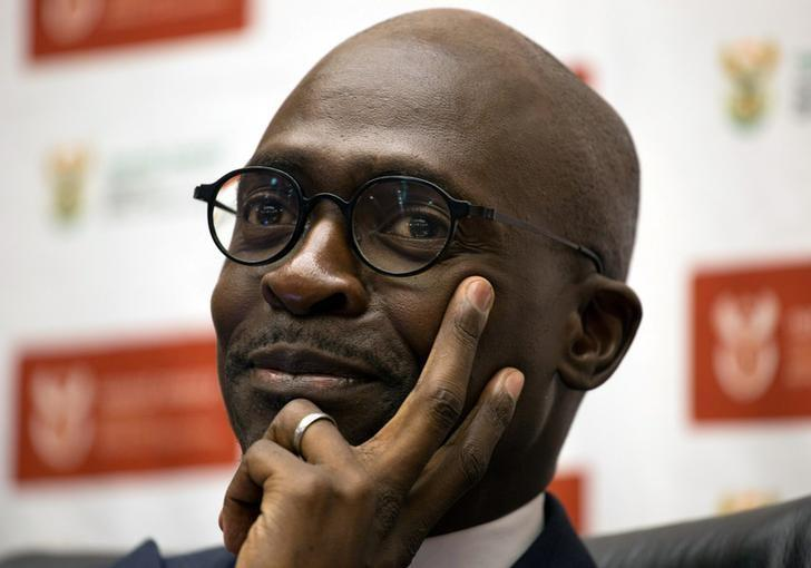 South Africa's Finance Minister Malusi Gigaba addresses a news conference in Pretoria, South Africa April 4, 2017. REUTERS/James Oatway