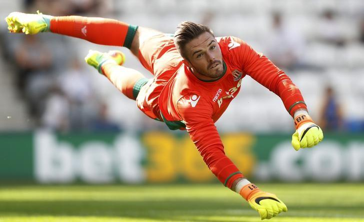 Britain Football Soccer - Preston North End v Stoke City - Pre Season Friendly - Deepdale - 23/7/16Stoke City's Jack Butland in action Action Images via Reuters / Carl RecineLivepic/Files