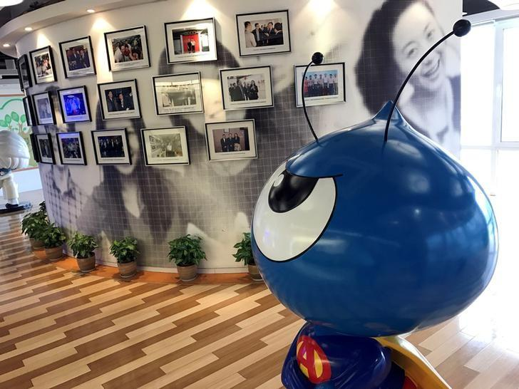A mascot of Ant Financial is seen at its office in Hangzhou, Zhejiang Province, China September 21, 2016. REUTERS/John Ruwitch/File Photo