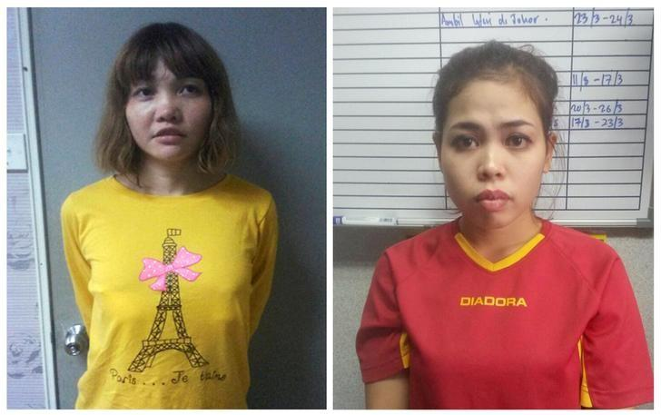 Vietnamese Doan Thi Huong (L) and Indonesian Siti Aishah are seen in this combination picture from undated handouts released by the Royal Malaysia Police to Reuters on February 19, 2017.  Royal Malaysia Police/Handout via Reuters/File Photo