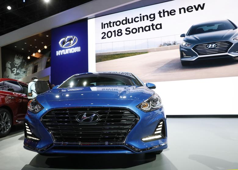 The 2018 Hyundai Sonata is unveiled at the 2017 New York International Auto Show in New York City, U.S. April 12, 2017. REUTERS/Brendan Mcdermid