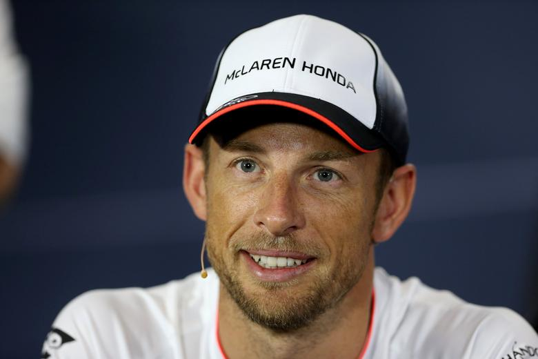 FILE PHOTO - Britain Formula One - F1 - British Grand Prix 2016 - Silverstone, England - 7/7/16McLaren's Jenson Button during the press conference Action Images via Reuters / Matthew Childs/File Photo
