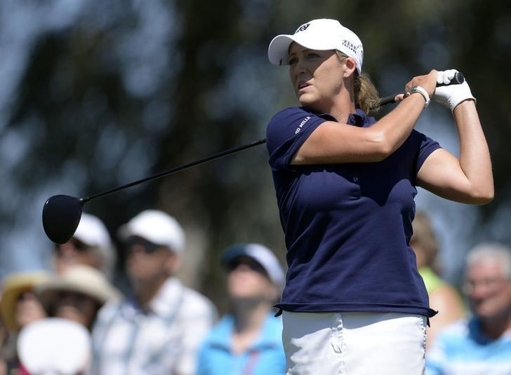 FILE PHOTO - April 2, 2017; Rancho Mirage, CA, USA; Cristie Kerr hits from the third course tee box during the final round of the ANA Inspiration golf tournament  at Mission Hills CC - Dinah Shore Tournament Cou. Mandatory Credit: Gary A. Vasquez-USA TODAY Sports