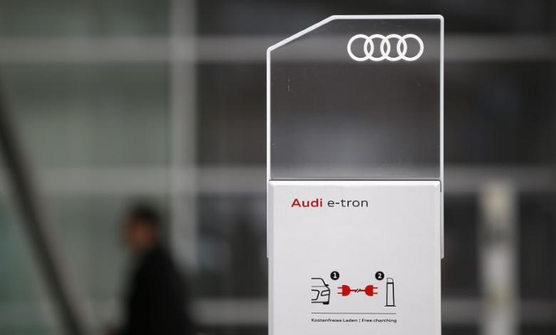 A charging station for e-tron cars is pictured near the headquarters of German car manufacturer Audi in Ingolstadt, Germany February 16, 2016. REUTERS/Michaela Rehle