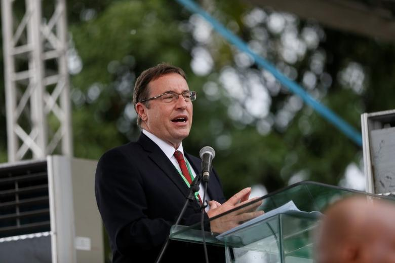 FILE PHOTO: Achim Steiner speaks in Bodo, Nigeria, June 2, 2016. REUTERS/Afolabi Sotunde