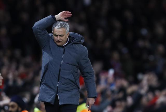 Britain Football Soccer - Manchester United v RSC Anderlecht - UEFA Europa League Quarter Final Second Leg - Old Trafford, Manchester, England - 20/4/17 Manchester United manager Jose Mourinho reacts Action Images via Reuters / Jason Cairnduff Livepic