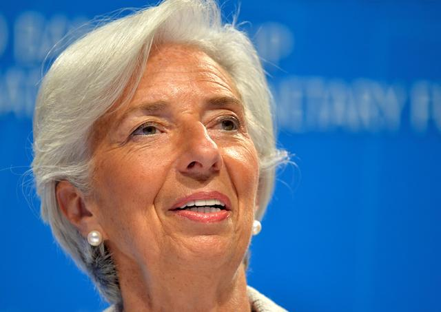 IMF Managing Director Christine Lagarde makes remarks during a press briefing to open the IMF and World Bank's 2017 Annual Spring Meetings, in Washington, U.S., April 20, 2017.   REUTERS/Mike Theiler