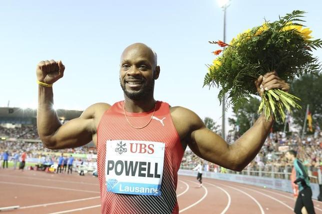 4月20日、陸上の男子400メートルリレー、ジャマイカ代表チームのテクニカルリーダーを務めるモーリス・ウィルソン氏は、北京五輪と2度の世界選手権で金メダルを獲得したアサファ・パウエル(写真、34)が国際陸連(IAAF)主催の第3回IAAF世界リレー大会に出場しないことを明かした。2016年8月撮影(2017年 ロイター/Denis Balibouse)