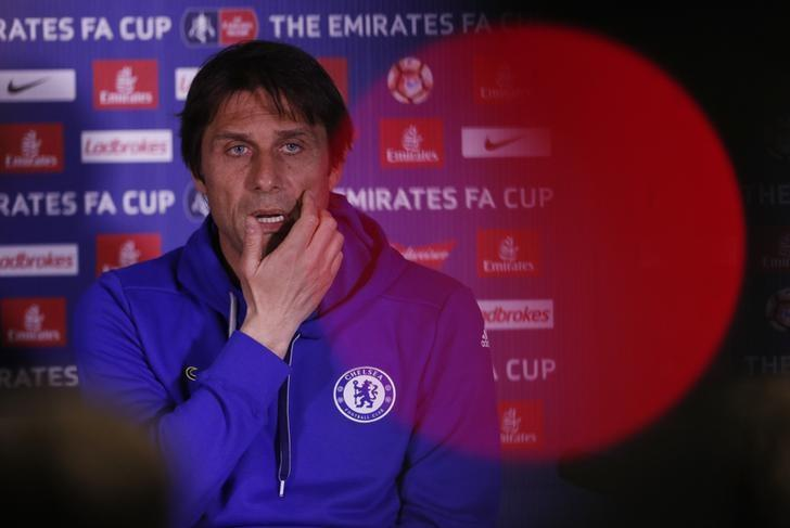 Britain Football Soccer - Chelsea - Antonio Conte Press Conference - Stamford Bridge - 21/4/17 Chelsea manager Antonio Conte during the press conference Action Images via Reuters / John Sibley Livepic