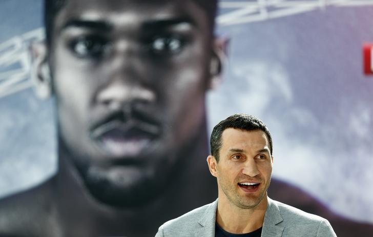 Boxing - Anthony Joshua & Wladimir Klitschko Press Conference - RTL, Cologne, Germany - 16/2/17 Wladimir Klitschko during the press conference Reuters / Ralph Orlowski Livepic