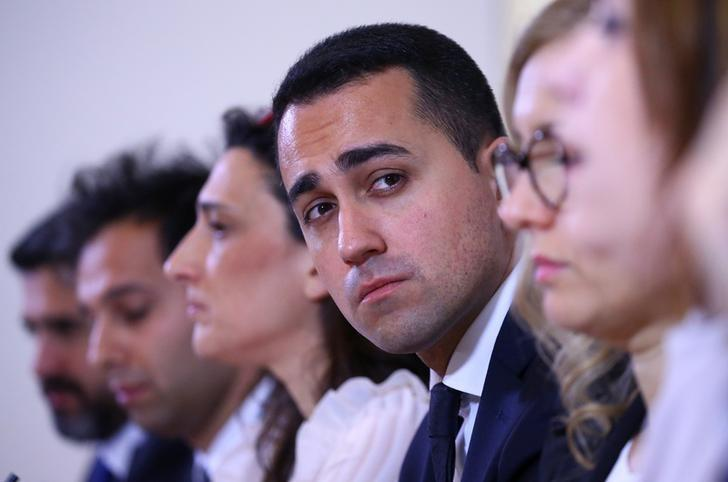 Luigi Di Maio of Five Star movement looks on as he attends a news conference in Rome, Italy, March 23, 2017. REUTERS/Alessandro Bianchi/File Photo