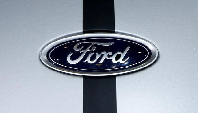 The logo of Ford is seen during the 87th International Motor Show at Palexpo in Geneva, Switzerland March 8, 2017. REUTERS/Arnd Wiegmann/File Photo