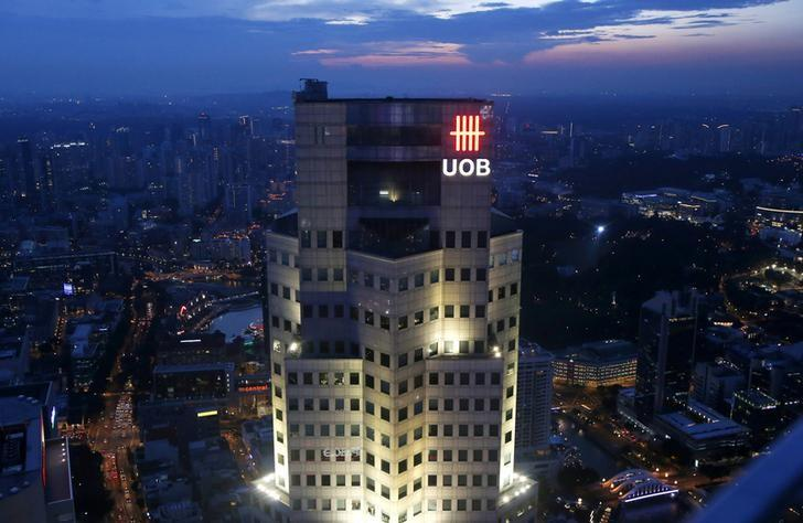 The United Overseas Bank (UOB) Plaza building is pictured in the central business district in Singapore July 24, 2015. REUTERS/Edgar Su/File Photo