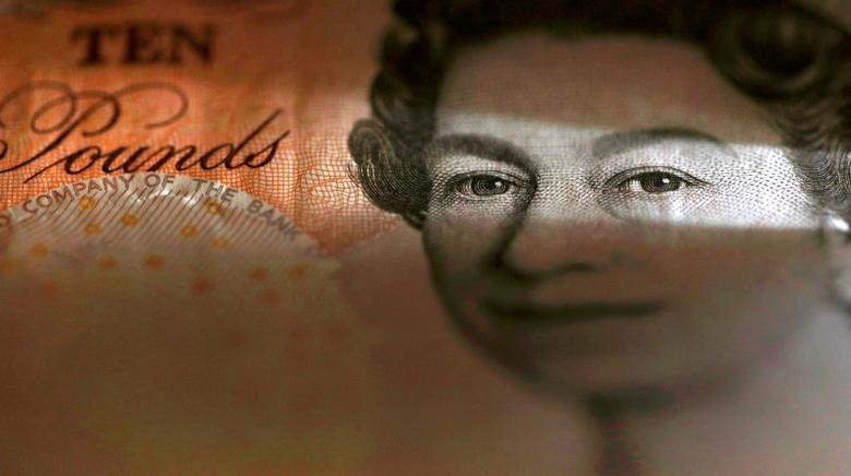 A British ten pound banknote is seen in a photo illustration taken March 16, 2016.  REUTERS/Phil Noble/Illustration/File Photo